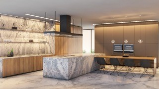 Stone kitchen 12