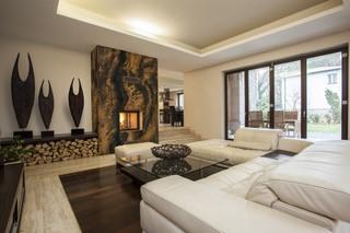 Upscale Living Room Fireplace